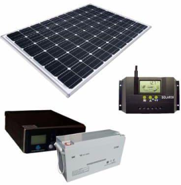 1 kva inverter 200ah battery and 200 watts solar panel